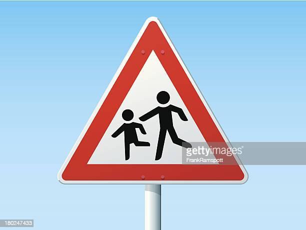 Kinder deutsche-Warnschild