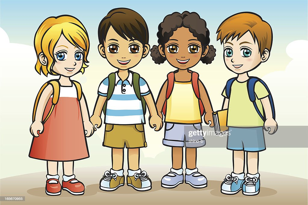 Children go to school together
