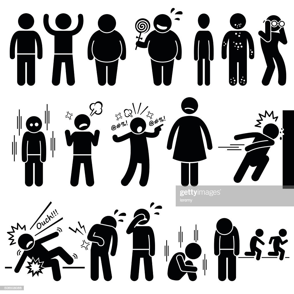 Children Health Physical and Mental Problem Syndrome Illustrations