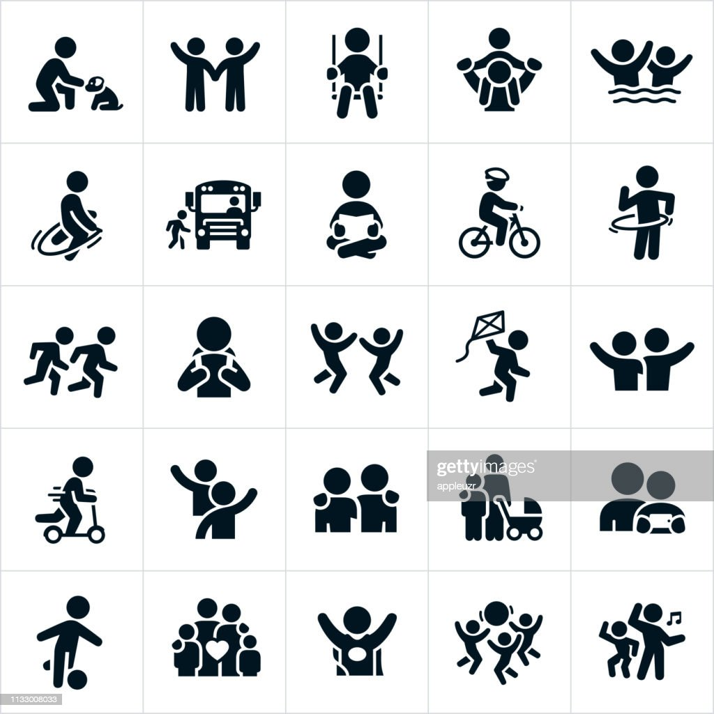 Children Icons : stock illustration