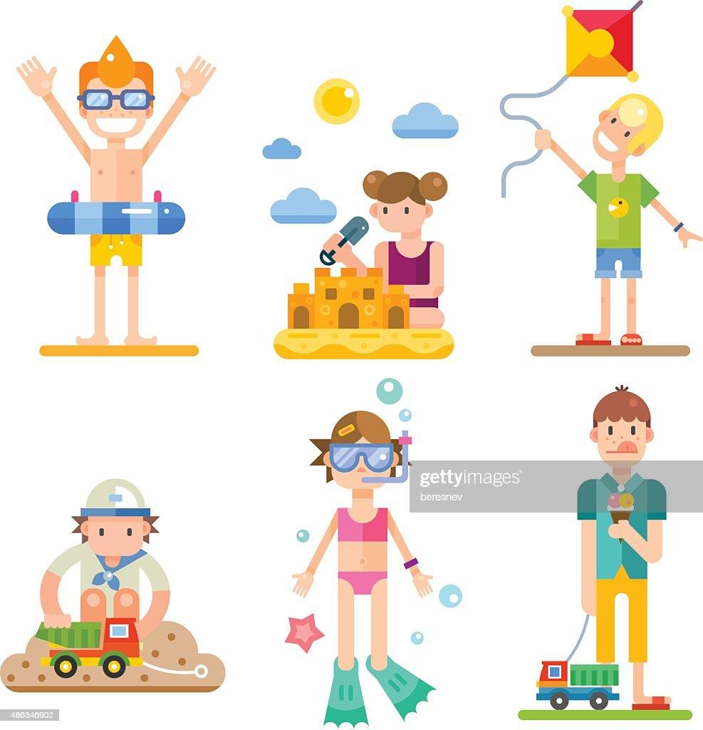 Children on summer vacation