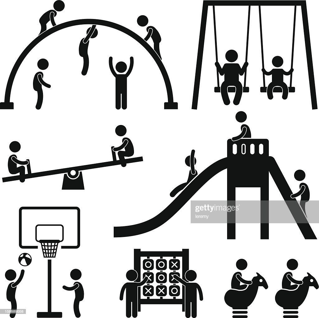 Children Playground Outdoor Park Pictogram