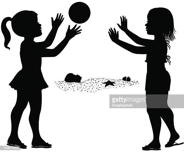 children playing at the beach - buried stock illustrations, clip art, cartoons, & icons
