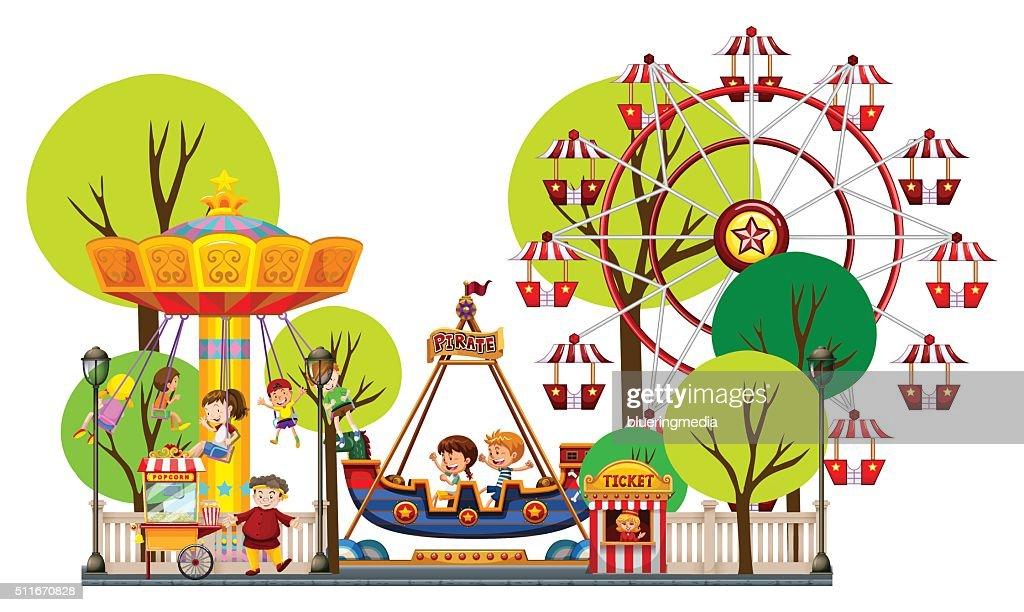 Children playing theme park