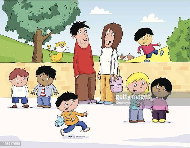 ilustrações, clipart, desenhos animados e ícones de crianças brincando - 6 7 anos