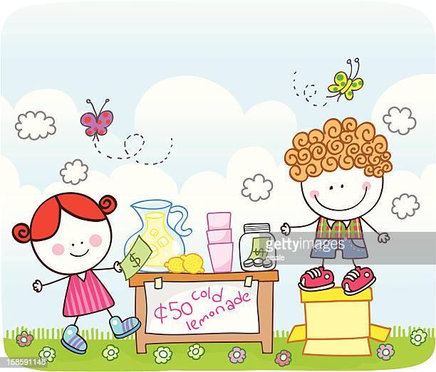 Enfants vente de limonade