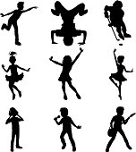 Children showing talents