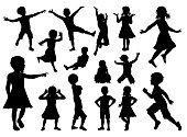 Children Silhouette Set