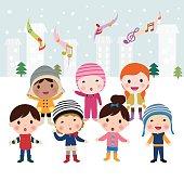 Children singing carols