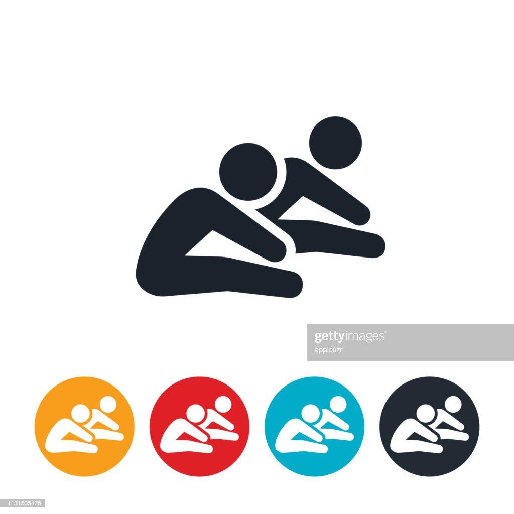 Children Stretching Icon : stock illustration