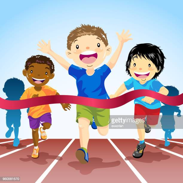 Children Track Running Competition