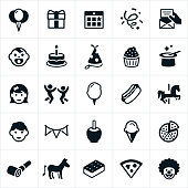 Children's Birthday Party Icons