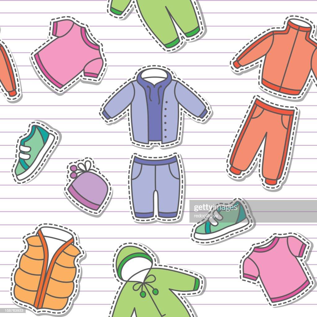 children's clothes, vector eps 10