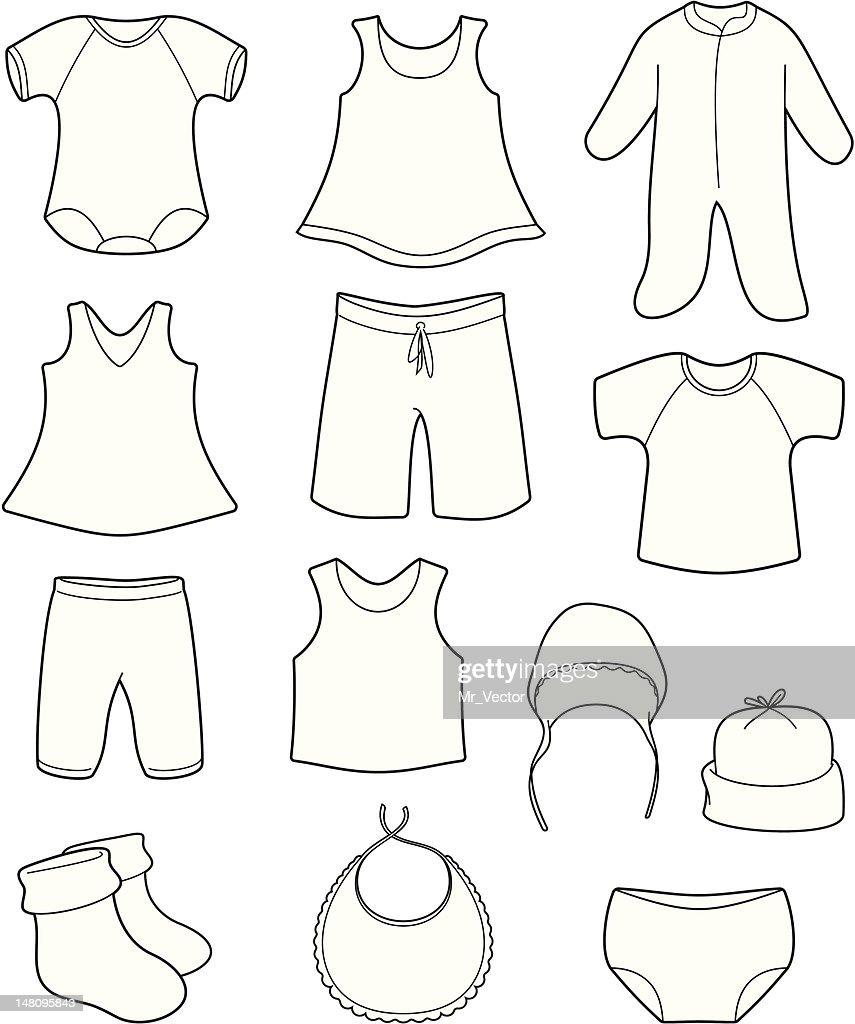 Children's clothes vector illustration