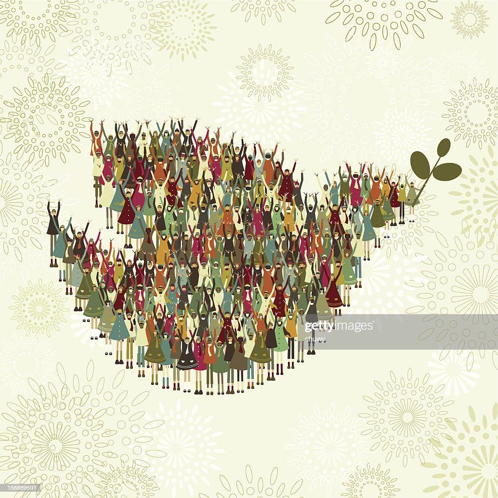 Children's dove of peace