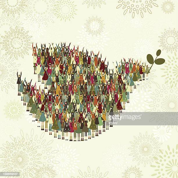children's dove of peace - symbols of peace stock illustrations