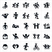 Children's Fitness Icons