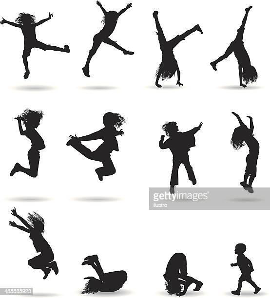 ilustraciones, imágenes clip art, dibujos animados e iconos de stock de vuelo para niños - salto de longitud