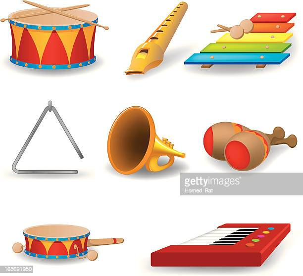 childrens instruments - snare drum stock illustrations, clip art, cartoons, & icons
