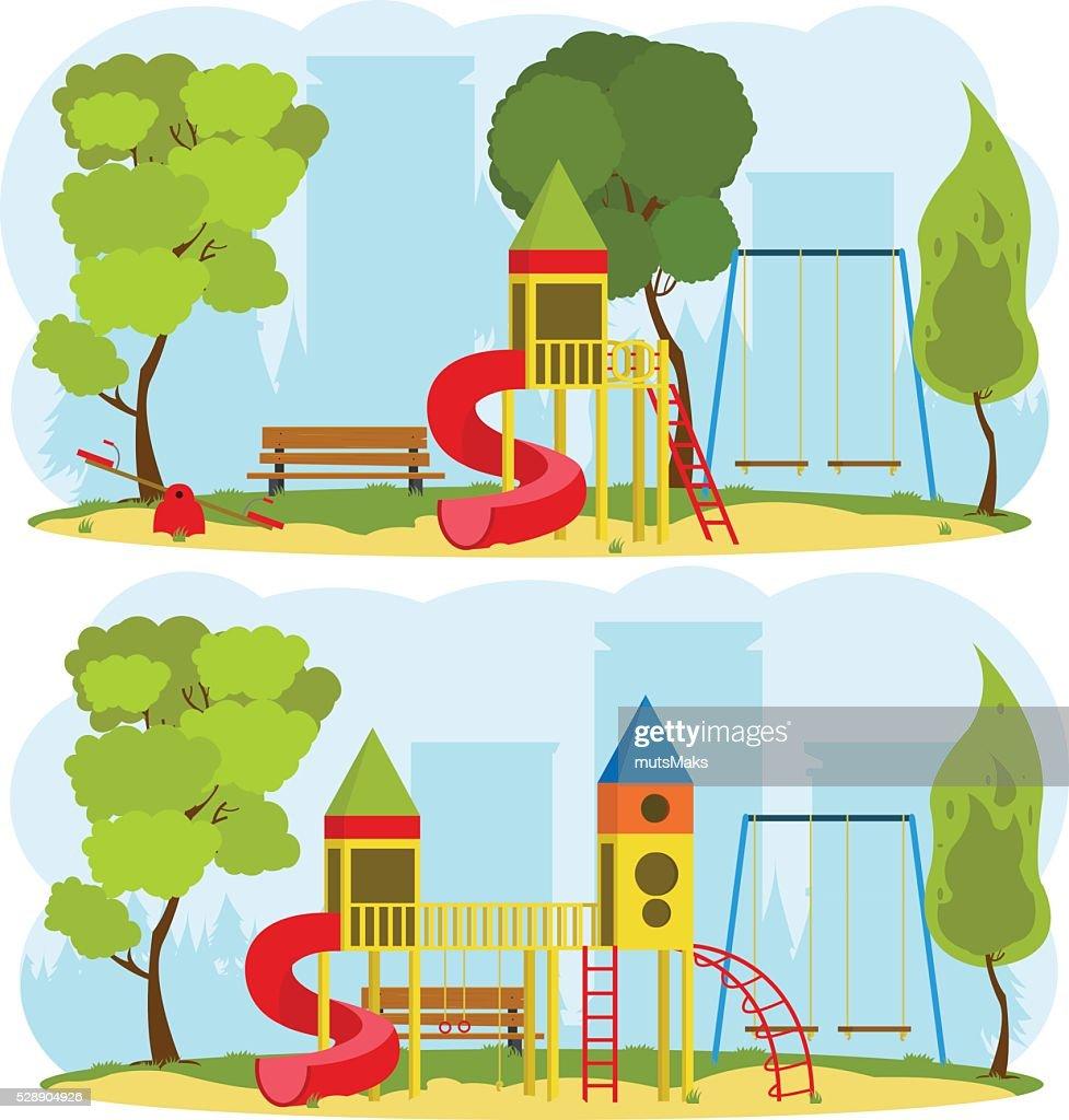 children's playground in a city park
