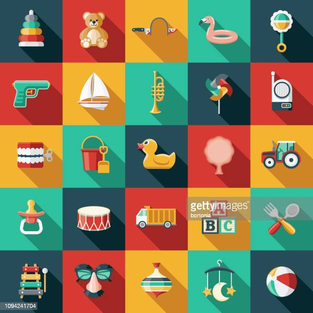 Children's Toys Icon Set