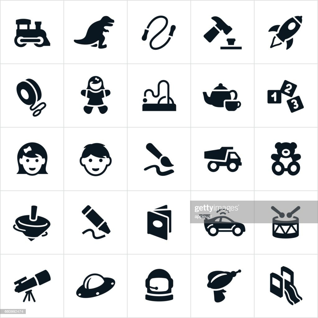 Children's Toys Icons : stock illustration