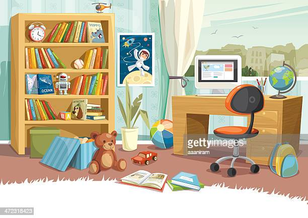 child's room - domestic room stock illustrations, clip art, cartoons, & icons