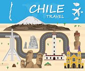 chile Landmark Global Travel And Journey Infographic Vector Design Template.vector illustration.