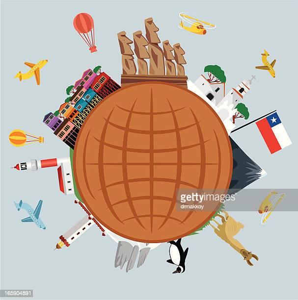 Chile Travel Symbols