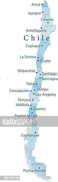 Chile Vector Map Regions Isolated