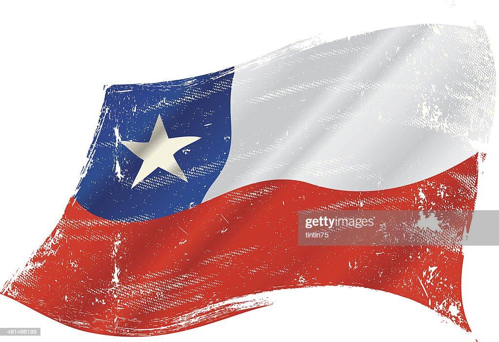 Chilean grunge flag