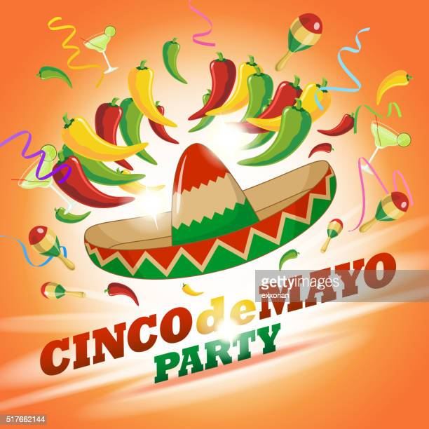 chili cinco de mayo party - frozen drink stock illustrations