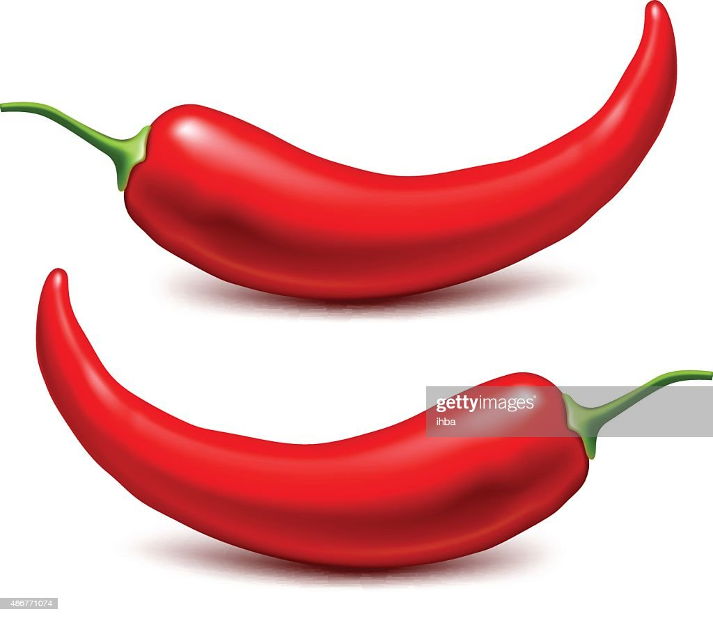 Chili peppers. Vector illustration