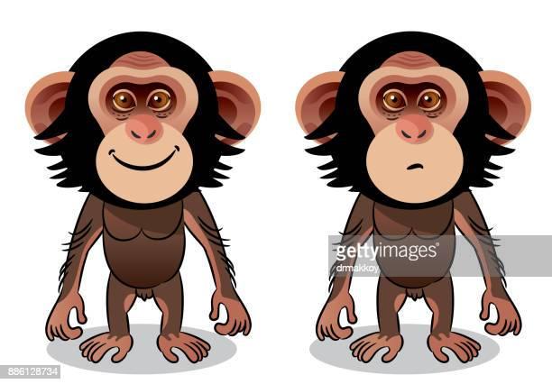 schimpansen-gattung - chimpanzee stock-grafiken, -clipart, -cartoons und -symbole