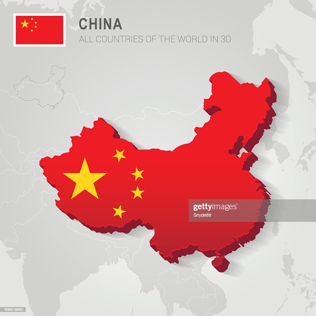 China. Asia administrative map.