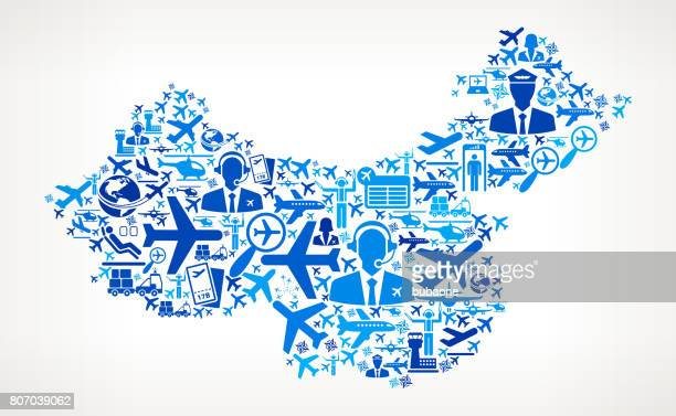 China Aviation and Air Planes Vector Graphic