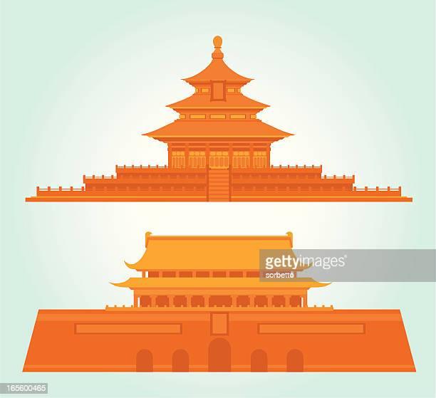 中国北京のランドマーク)アイコン - 天安門広場点のイラスト素材/クリップアート素材/マンガ素材/アイコン素材
