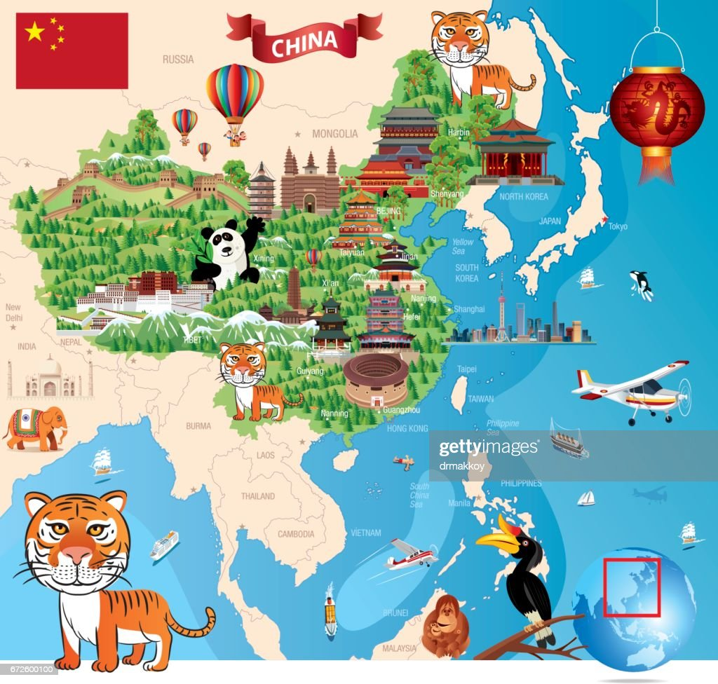 China Cartoon Map