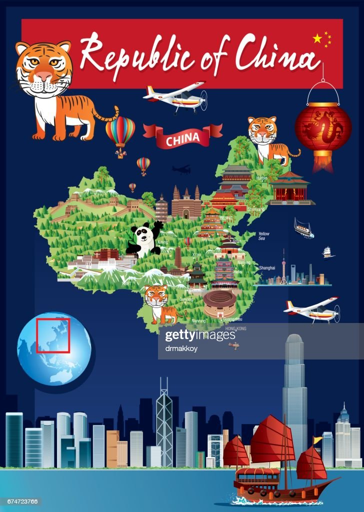 China cartoon map vector art getty images china cartoon map vector art gumiabroncs Choice Image