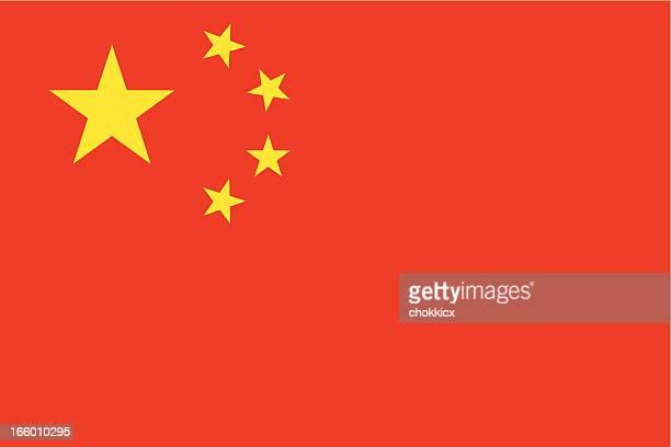china flag - chinese flag stock illustrations