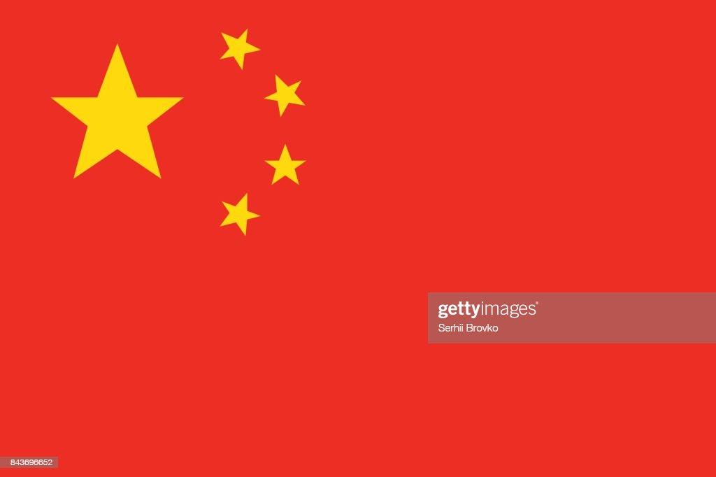 Chinaflagge Vektor Vektorgrafik | Getty Images