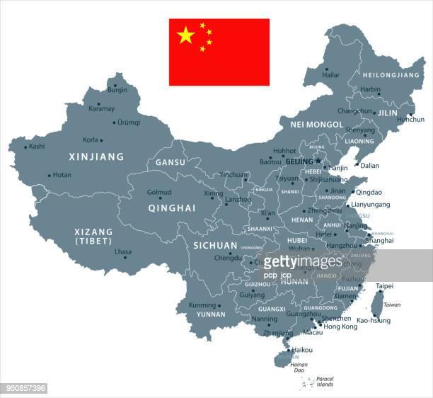 30 - 中国 - グレースケール分離 10 - 中国北東部点のイラスト素材/クリップアート素材/マンガ素材/アイコン素材