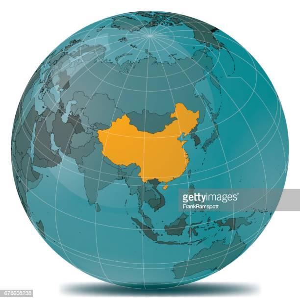 china highlight planetenerde - china stock-grafiken, -clipart, -cartoons und -symbole