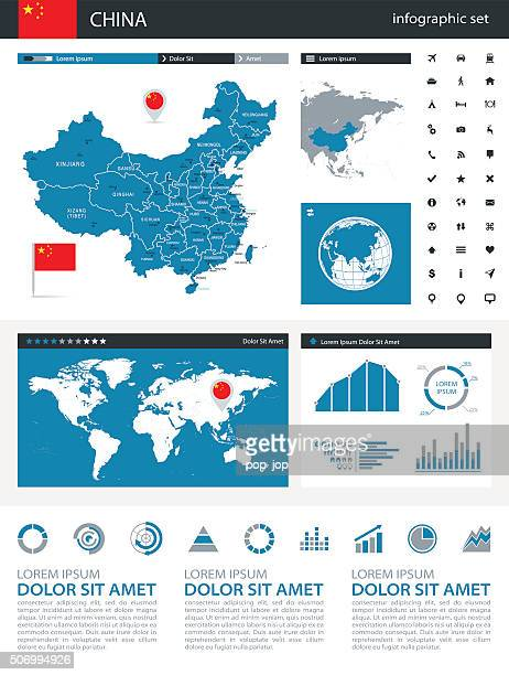 China - infographic map - Illustration