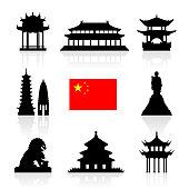 China Landmarks Icon Set.