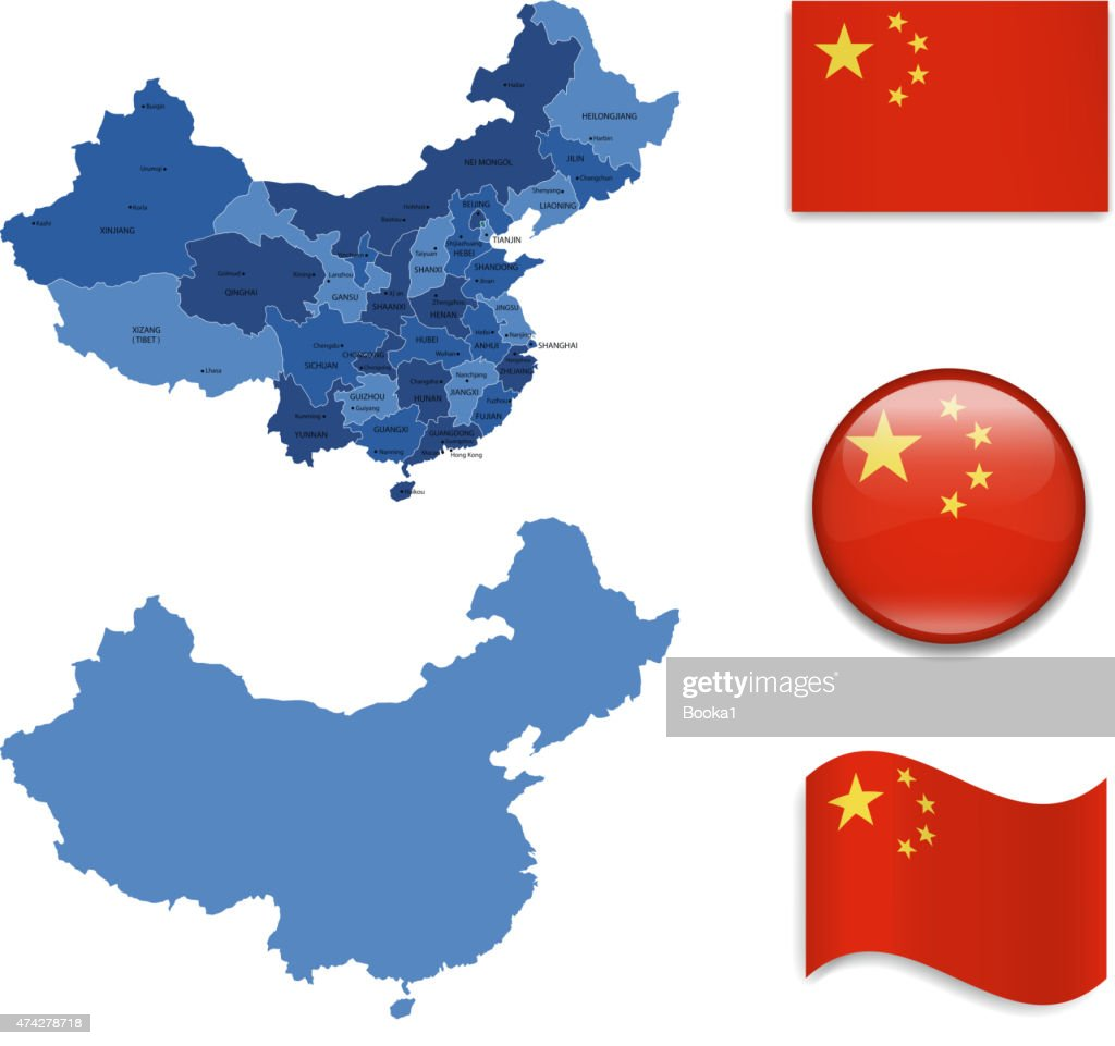 China Map and Flag Collection