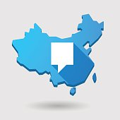China map icon with a tooltip