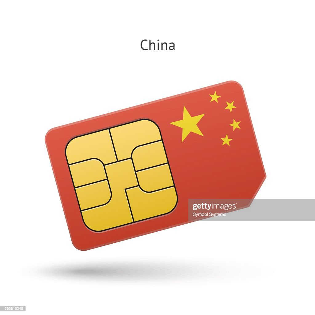 China Mobile Phone Sim Card With Flag stock vector - Getty