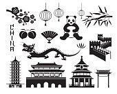China Mono Objects Set