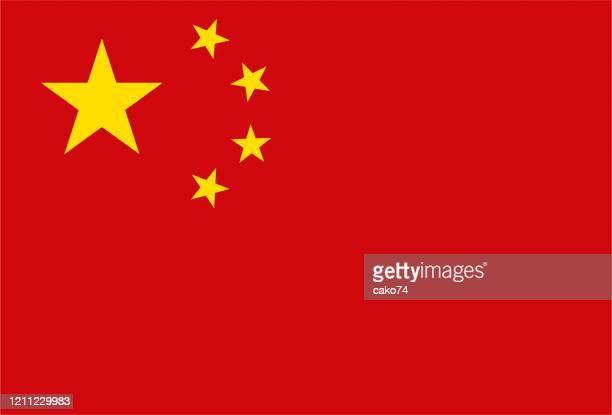 illustrazioni stock, clip art, cartoni animati e icone di tendenza di china national flag - luogo d'interesse nazionale